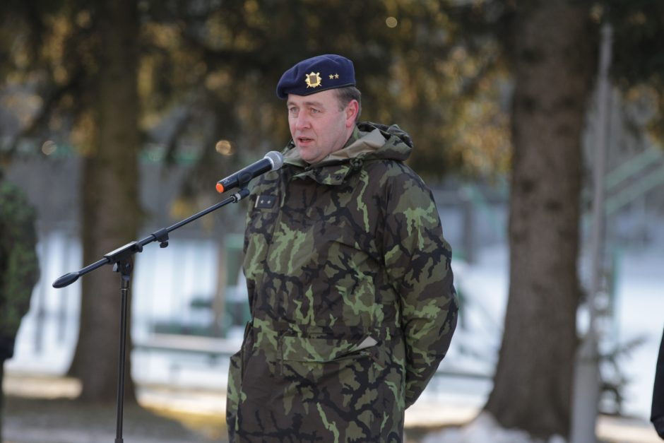 Čekijos rotacinių pajėgų karius pasveikino R. Karoblis