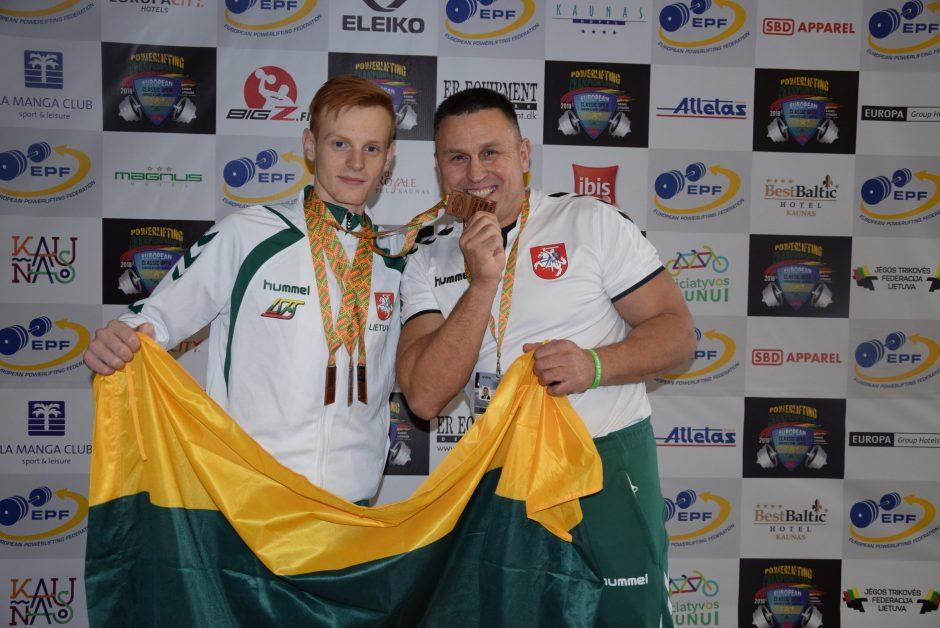 Europos jėgos trikovės čempionate –  dar vienas medalis
