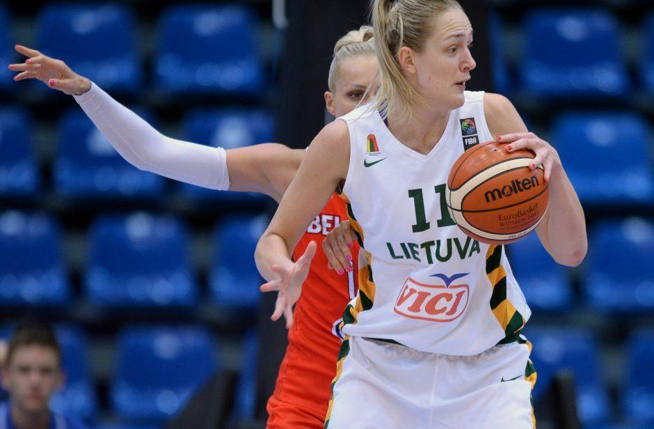 Lietuvos moterų krepšinio rinktinė nušlavė Albaniją 58 taškų skirtumu