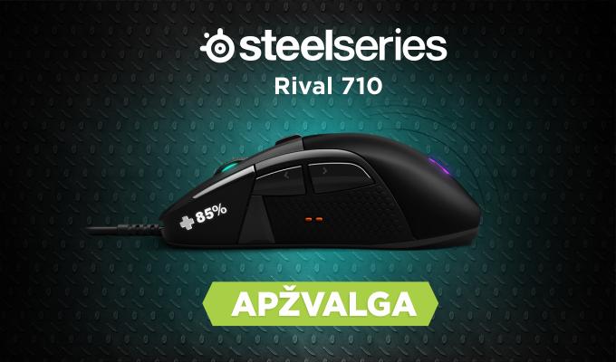 """Žaidimų pelės """"SteelSeries Rival 710"""" apžvalga"""