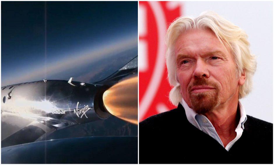 R. Bransonas žada vasarą savo kosminiu laivu pakilti į orbitą