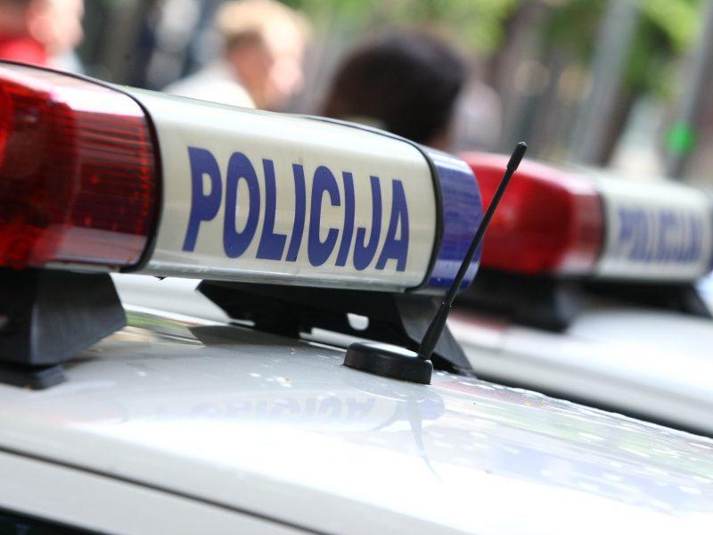 Klaipėdoje į avariją pateko policijos automobilis