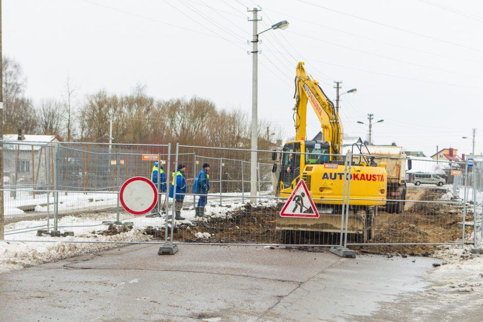 Kalvarijos gatvėje prasidėjo rekonstrukcijos darbai – ribojamas eismas