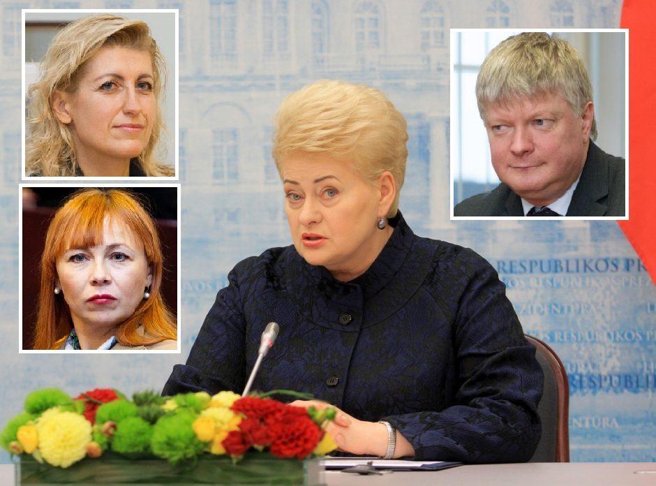 Prezidentė pasirašė dekretus dėl trijų ministrų atleidimo, paskirti laikinieji