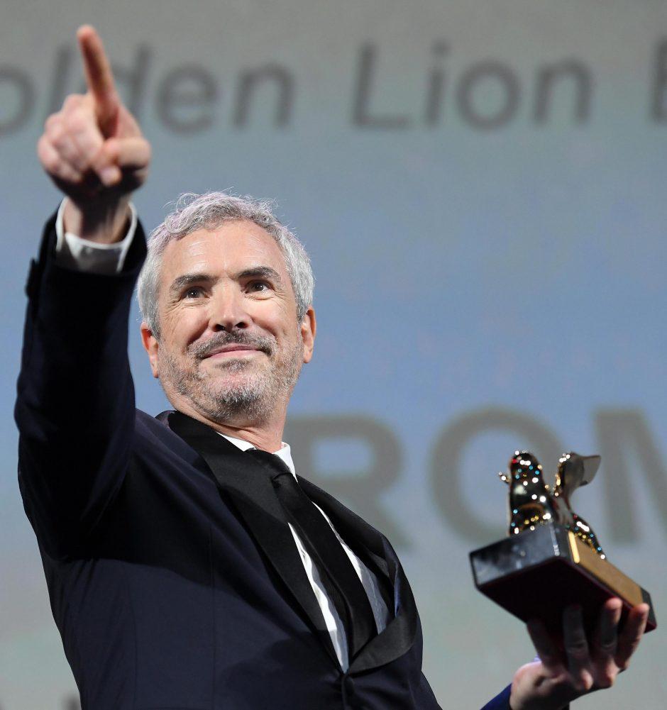 """Venecijos kino festivalyje triumfavo meksikiečių režisieriaus filmas """"Roma"""""""