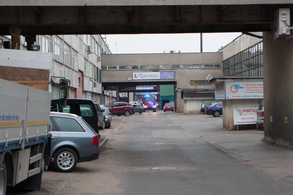 Gaisras buvusios radijo gamyklos teritorijoje