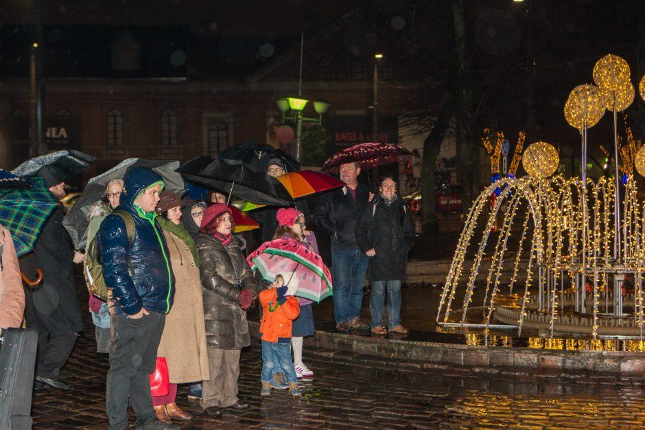Menoros uždegimo ceremonija Kaune