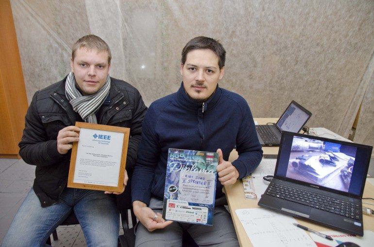 KU robotų konstruotojai varžybose Estijoje susižėrė prizines vietas