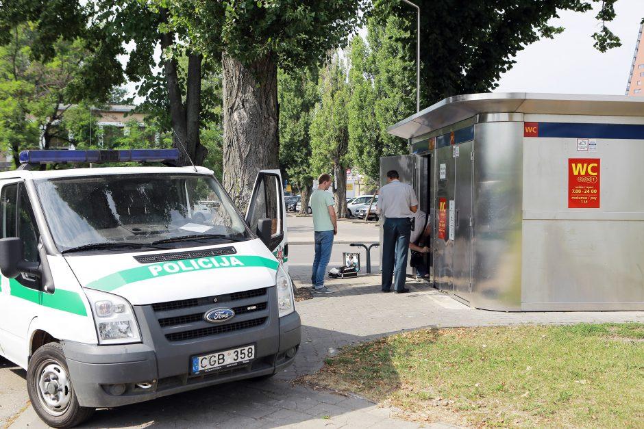 Centais susigundę vandalai turistus paliko be tualeto