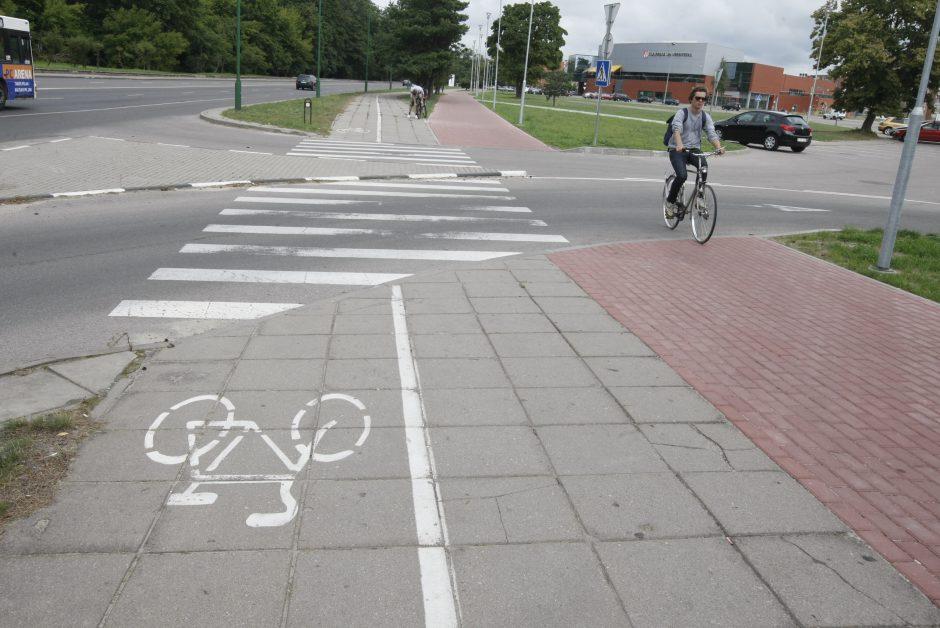 Dėl naujo dviračių tako – painiava