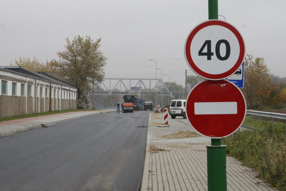Žadama, kad Joniškės gatvė iki lapkričio 1-osios bus atidaryta