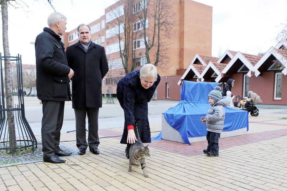 M. Mažvydo alėjoje šypsosis katinas (atnaujinta)