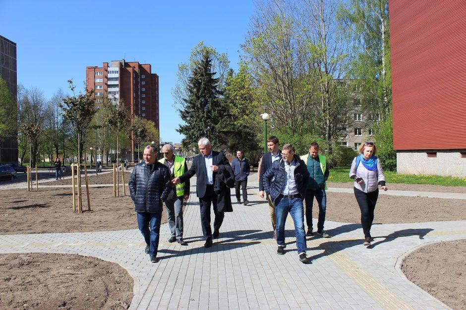 Pietinėje miesto dalyje – dar daugiau atnaujintų viešųjų erdvių