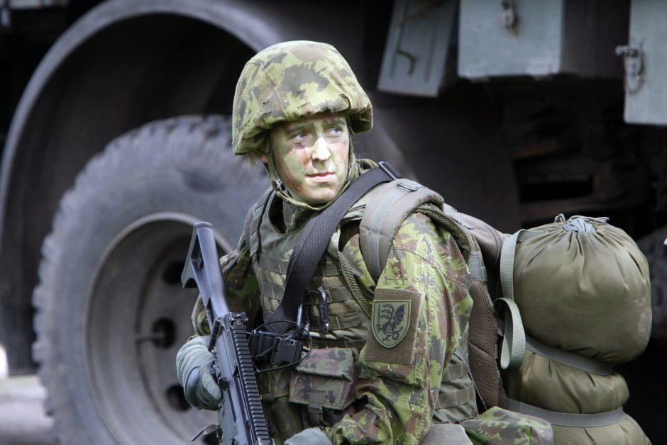 Kretingoje benamis užsipuolė kareivį