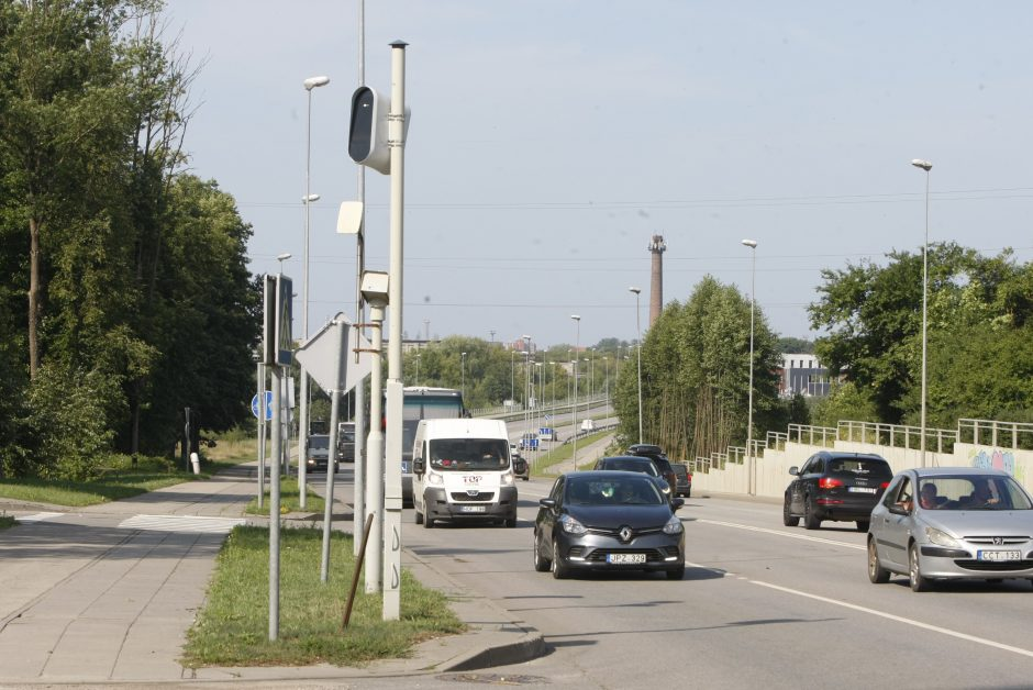 Po Klaipėdos miestą – beprotišku greičiu