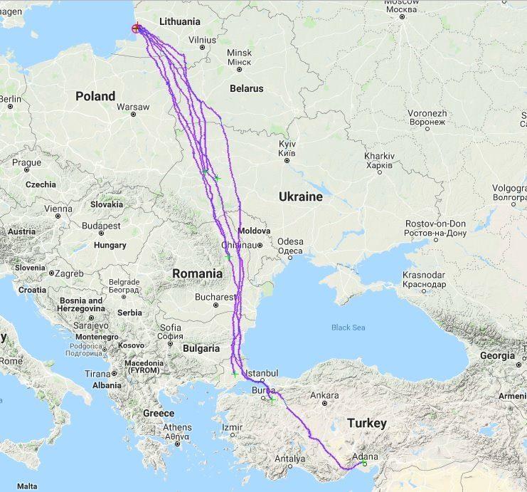 Gandrams Ventės rage – GPS siųstuvai