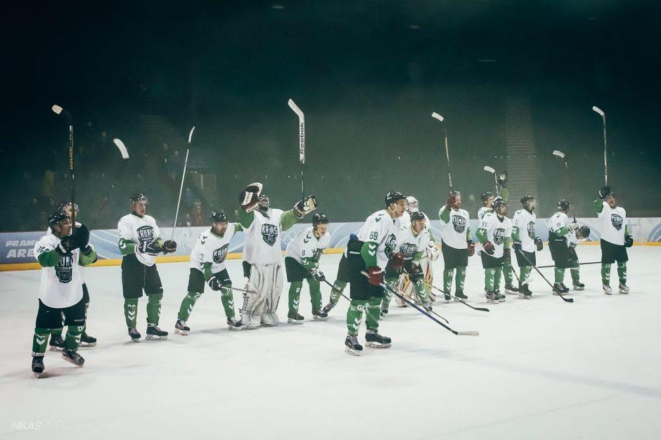 """""""Kauno Hockey"""" komanda išlygino Lietuvos čempionato pusfinalio serijos rezultatą"""