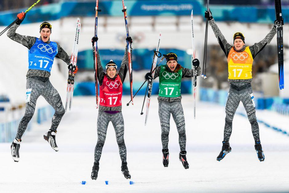 Lietuvos biatlonininkai olimpinių žaidynių estafetėje finišo nepasiekė