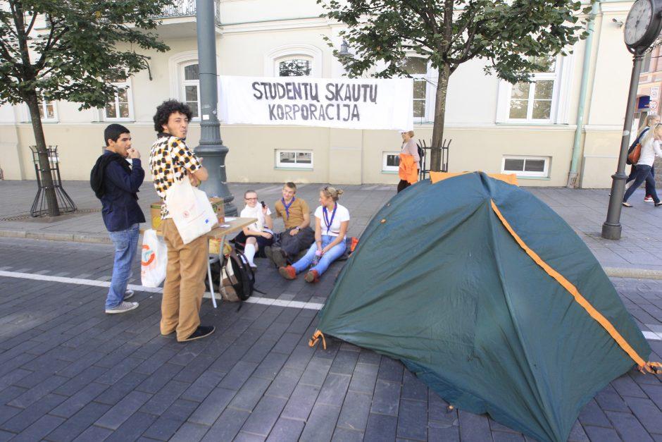 Gedimino prospektą okupavo jaunimo organizacijos