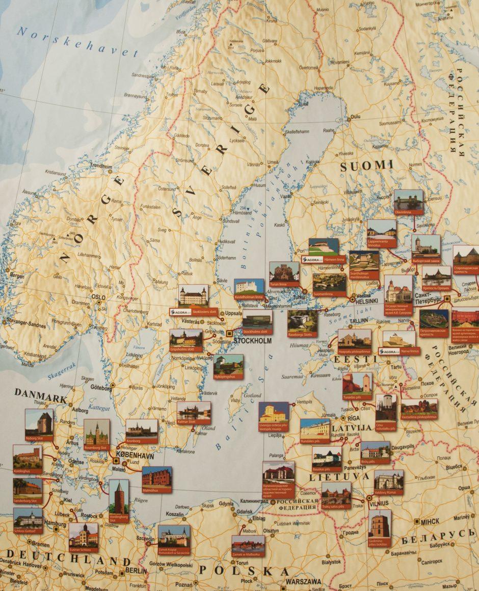 """Trakų salos pilyje –  paroda """"Pilys ir muziejai aplink Baltijos jūrą"""""""