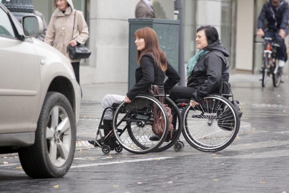 Neįgaliesiems - specialus žemėlapis su patogiomis vietomis Vilniaus mieste