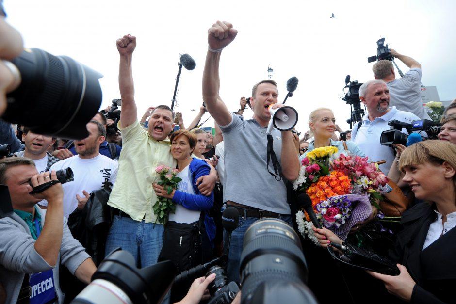 Su triumfu grįžęs Rusijos opozicijos lyderis žada siekti Maskvos mero posto