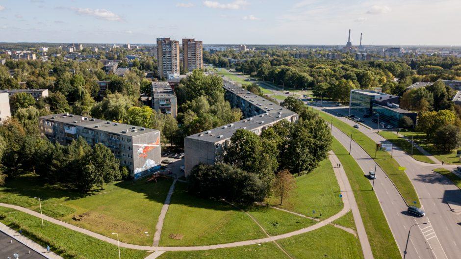 """Svečio iš Kipro pėdsakas Kaune – legendinė """"Lituanica"""" ant daugiabučio sienos"""