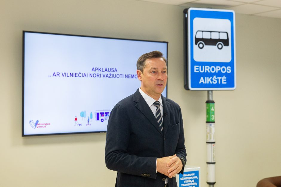 Vilniečiai balsuos dėl nemokamo viešojo transporto