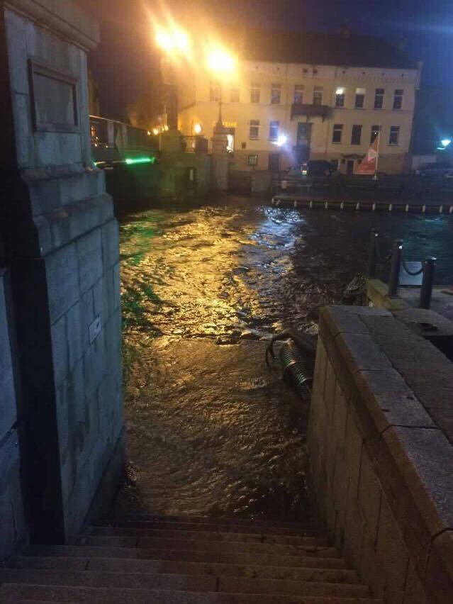 Klaipėdos senamiestį užliejo potvynis