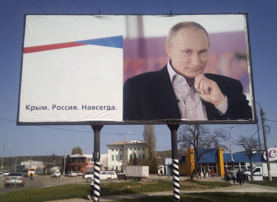 V. Putinas teigia niekada negrąžinsiąs Krymo Ukrainai
