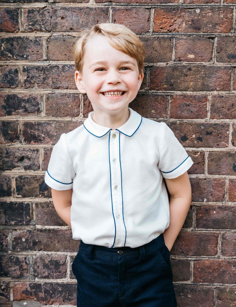 Princas George'as švenčia penktąjį gimtadienį