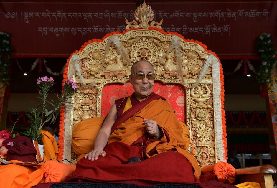 Tibeto dvasinis lyderis Dalai Lama atvyko į Lietuvą