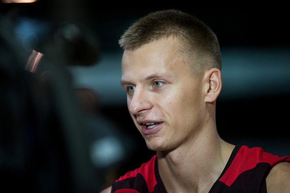 """Vilniaus """"Ryto"""" krepšininkų treniruotė"""
