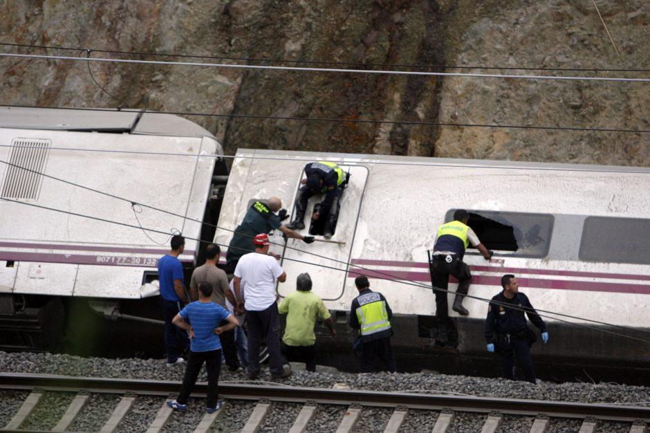 Ispanijoje sudužusio traukinio mašinistui pateikti preliminarūs kaltinimai