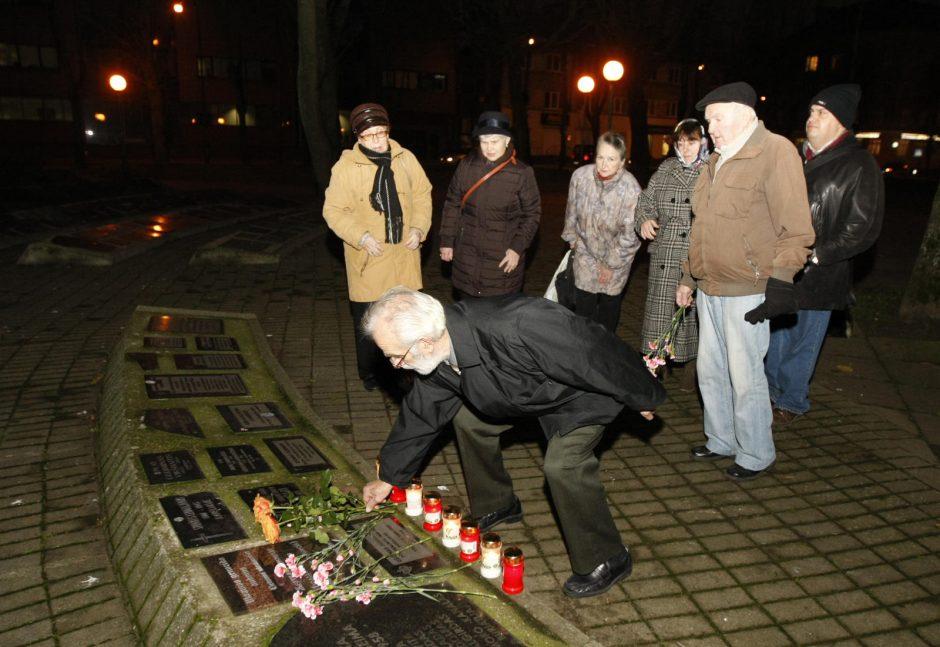 Klaipėdiečiai paminėjo Ukrainos tragedijos metines