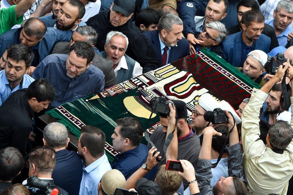 Nužudytų Rusijos žurnalistų laidotuvės
