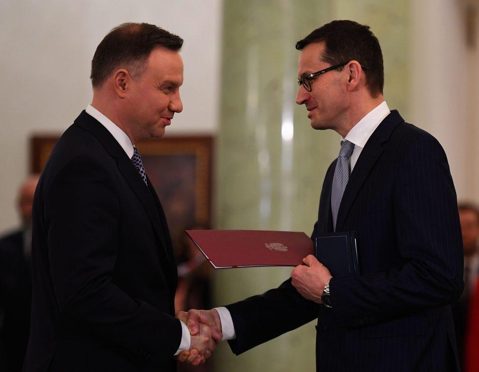 Prisaikdintas naujasis Lenkijos premjeras ir jo vyriausybė