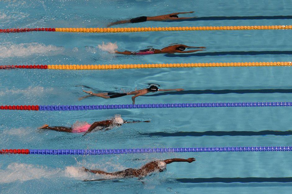 Kaunietis T. Duškinas 100 m rungtyje peteliške finišavo 33-ias
