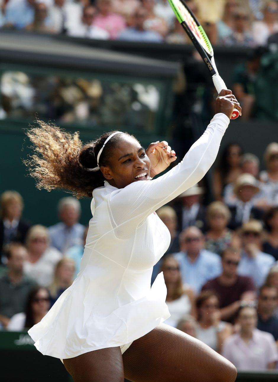 Amerikietė S. Williams dešimtą kartą žais Vimbldono turnyro finale