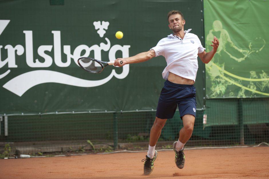 L. Grigelis ITF serijos teniso turnyre Austrijoje pralaimėjo vienetų varžybų pirmajame rate