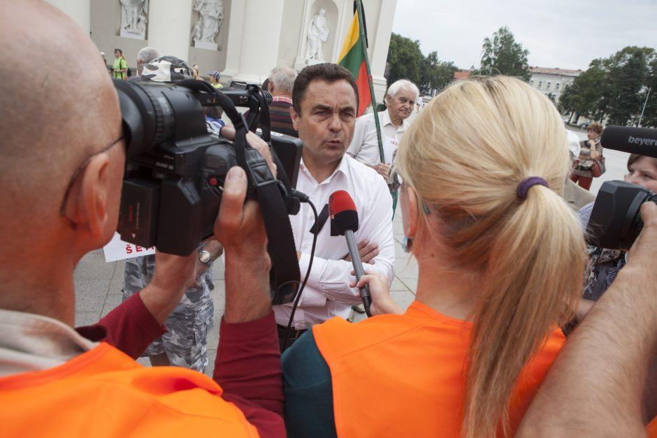 P. Gražulis ir S. Buškevičius liejo pyktį
