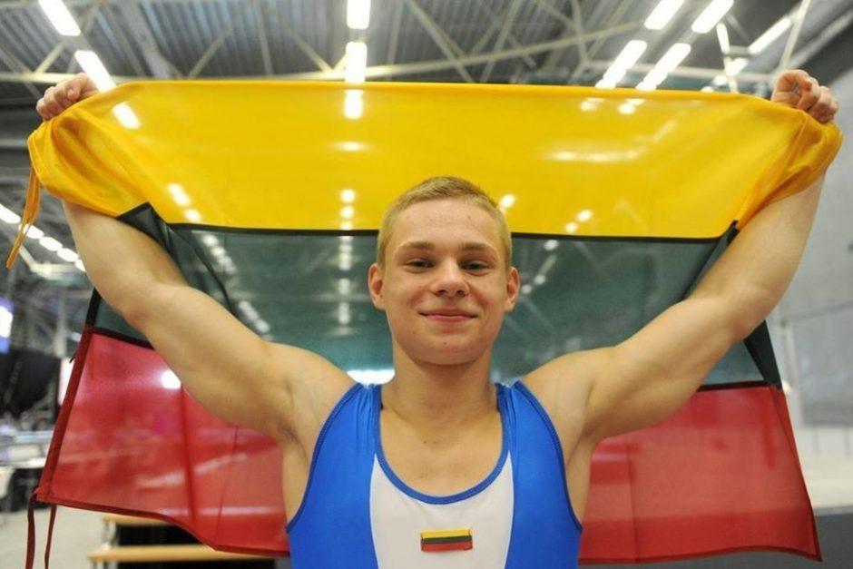 Gimnastas T. Kuzmickas pasaulio taurės varžybose pelnė antrą medalį