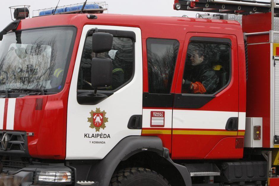 Klaipėdos rajone kilo gaisras bendrovės baldų gamybos pastate