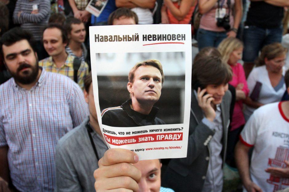 Prokurorai suabejojo būtinybe areštuoti A. Navalną iki apeliacijos išnagrinėjimo
