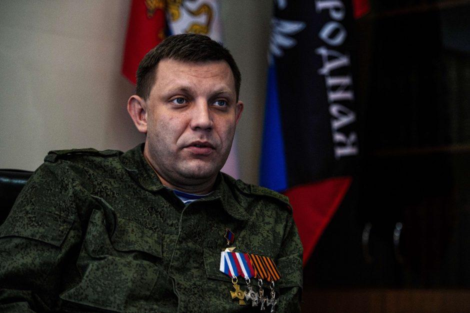 Separatistų lyderis pagrasino jėga išstumti vyriausybės pajėgas iš Donbaso