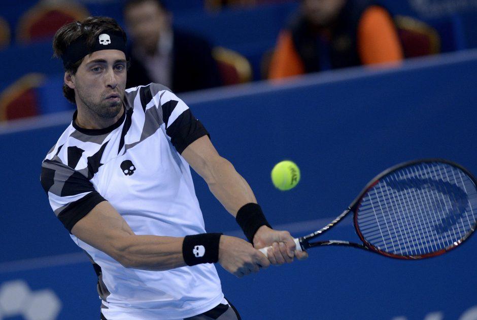 """N. Basilašvilis nugalėjo geriausią """"Memphis Open"""" pirmenybių tenisininką"""