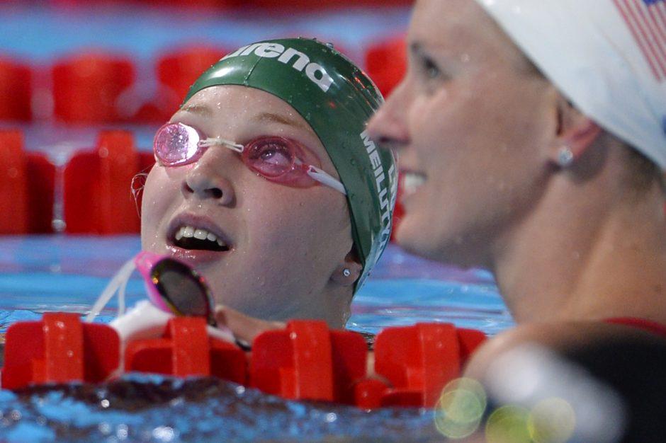 Europos rekordą pagerinusi R.Meilutytė: tai - geras ženklas!