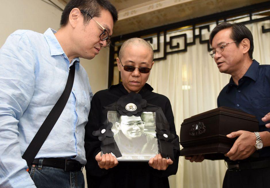 Kinų disidento Liu Xiaobo pelenai palaidoti jūroje