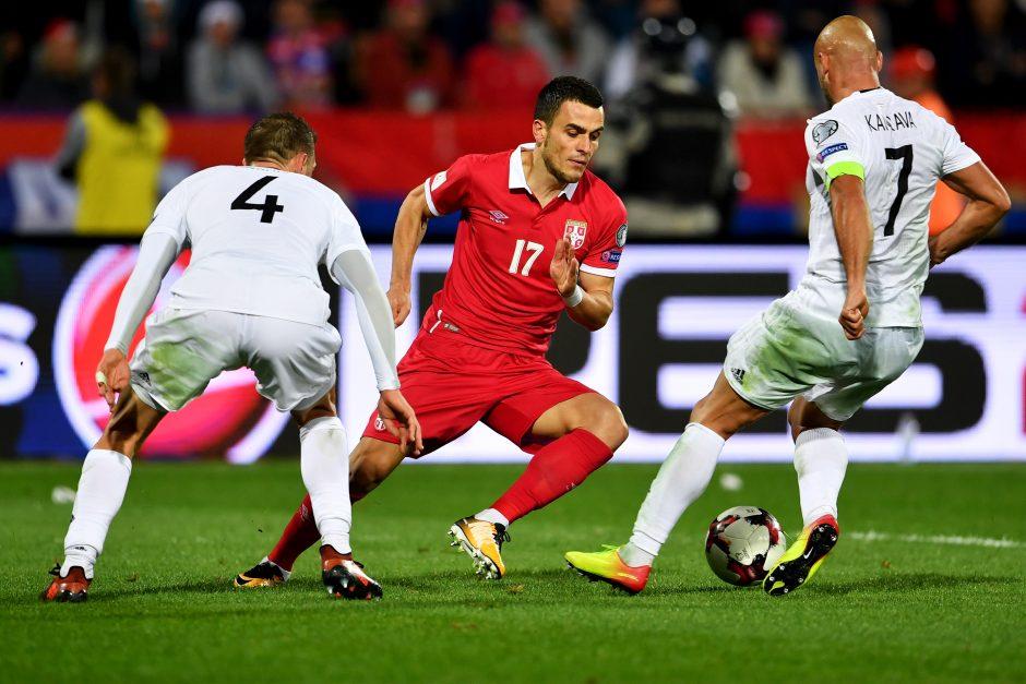 Serbija ir Islandija pateko į pasaulio futbolo čempionatą