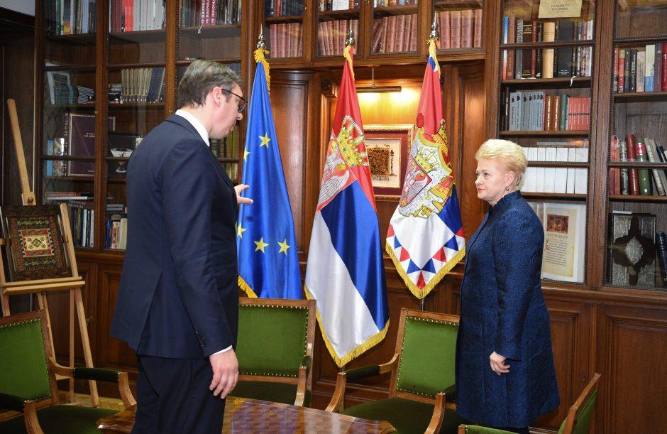 D. Grybauskaitė Serbiją ragina laikytis ES pozicijų dėl Rusijos